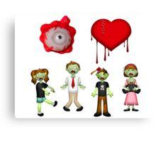 Eye Heart Zombies Canvas Print