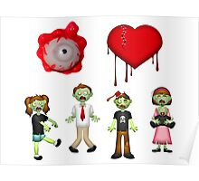 Eye Heart Zombies Poster