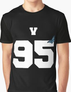 BTS- V 95 Line Butterfly Jersey Graphic T-Shirt