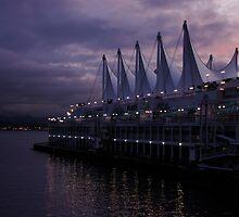 Purple Dawn in Vancouver  by Georgia Mizuleva