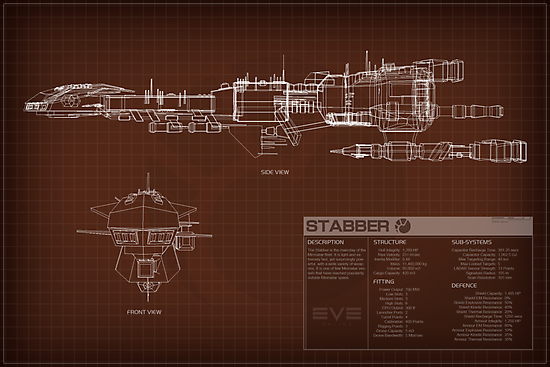 EVE Online - Stabber Schematic by Titch-IX