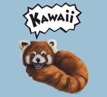 Cute Kawaii Red Panda Kids Tee