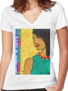 No Time for Tears Women's Fitted V-Neck T-Shirt