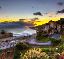 Ventnor Town Sunset by manateevoyager