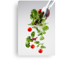 Fresh salad falling from a clamp Canvas Print