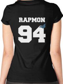 BTS- RAPMON 94 Line Butterfly Jersey Women's Fitted Scoop T-Shirt