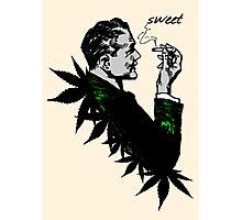 Politics and Weed - Sweet - Politician Smoking Weed Pot Marijuana Hemp T Shirts Stickers and Art Photographic Print