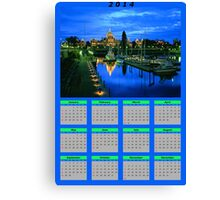 Calendar of the year 2014 Canvas Print