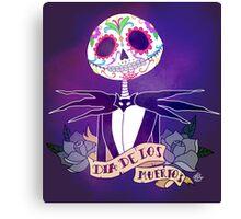 Dia de los Muertos - Nightmare Before Christmas Canvas Print