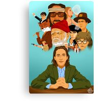 The World of Wes Anderson Canvas Print