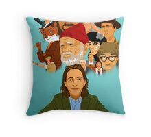 The World of Wes Anderson Throw Pillow