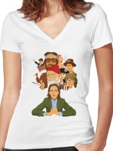 The World of Wes Anderson Women's Fitted V-Neck T-Shirt