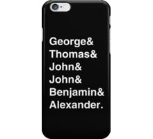 Founding Fathers - White Text iPhone Case/Skin