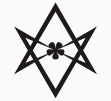Aleister Crowley - Magick Symbol - Golden Dawn - Occult - Thelema (Black on White) by James Ferguson - Darkinc1
