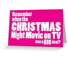 Christmas Night Movie Greeting Card