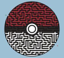 Pokeball Maze One Piece - Short Sleeve