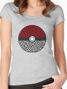 Pokeball Maze Women's Fitted Scoop T-Shirt