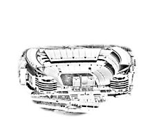 Heinz Field Aerial in Silvery Sketch Photographic Print