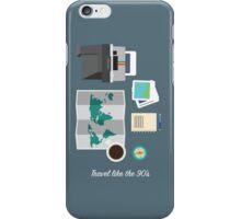 THE TRAVELLER'S DESK ( like the 90's)  iPhone Case/Skin