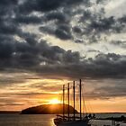Autumn sunrise Bar Harbor Maine by woodnimages