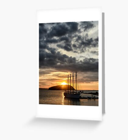 Autumn sunrise Bar Harbor Maine Greeting Card