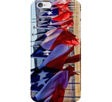 Row of Texas Flags iPhone Case/Skin