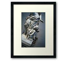 At Her Feet In A Garden Allegory Framed Print