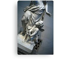 At Her Feet In A Garden Allegory Canvas Print