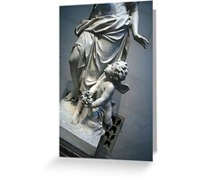 At Her Feet In A Garden Allegory Greeting Card
