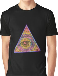 Eye of Providence Psychedelic Graphic T-Shirt