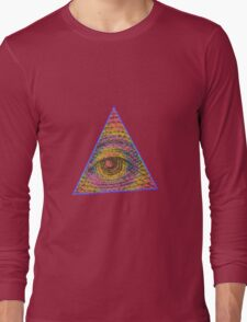 Eye of Providence Psychedelic Long Sleeve T-Shirt