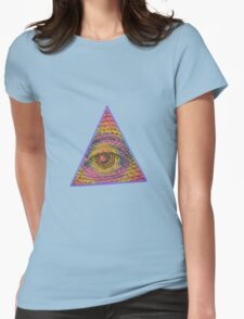 Eye of Providence Psychedelic Womens Fitted T-Shirt