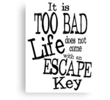 Escape Key Canvas Print