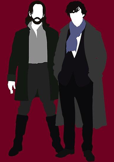 Ichabod Crane and Sherlock Holmes (BBC Version) by Ebonrook