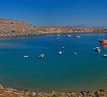 Pallas Beach in Lindos by Roger Green