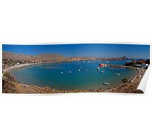 Pallas Beach in Lindos Poster