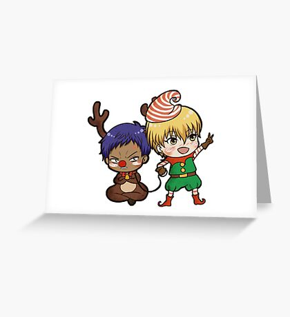 Aomine the red nose reindeer Greeting Card