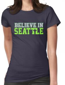"VICTRS ""Believe In Seattle"" Womens Fitted T-Shirt"