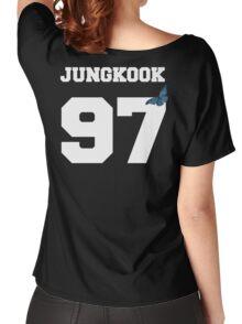 BTS- JUNGKOOK 97 Line Butterfly Jersey Women's Relaxed Fit T-Shirt