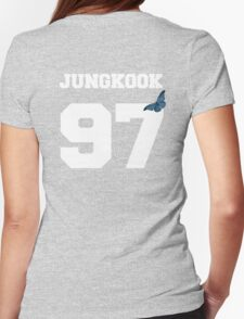 BTS- JUNGKOOK 97 Line Butterfly Jersey Womens Fitted T-Shirt