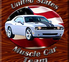 Dodge Challenger SRT8 Muscle Car Team by hotcarshirts