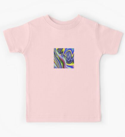 Abstract Rainbow Colourful Background Pattern Kids Tee