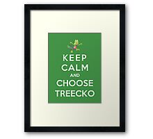 Keep Calm And Choose Treecko Framed Print