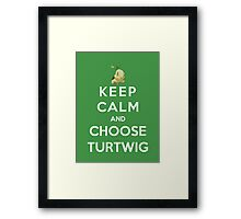 Keep Calm And Choose Turtwig Framed Print