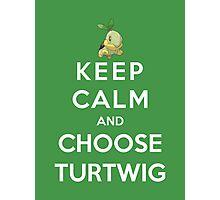 Keep Calm And Choose Turtwig Photographic Print