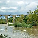 Bridge over the river Ardeche in Vogue - France by Arie Koene
