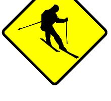 Skier Crossing by kwg2200