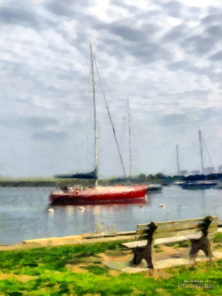 Southport Harbor in Spring by RC deWinter