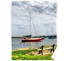 Southport Harbor in Spring Poster