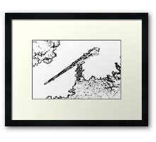Crane Outline Framed Print